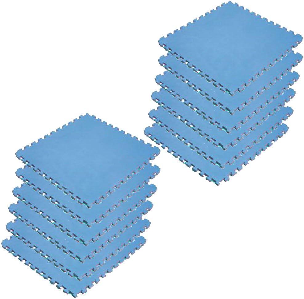 ボディメーカー(BODYMAKER) リバーシブルジョイントマット2.0 100×100×2cm レッド×ブルー 12枚