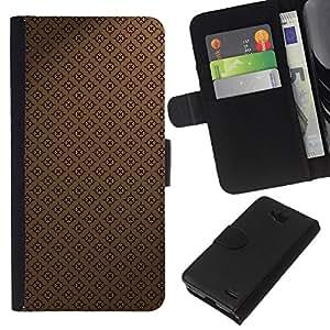 All Phone Most Case / Oferta Especial Cáscara Funda de cuero Monedero Cubierta de proteccion Caso / Wallet Case for LG OPTIMUS L90 // Pattern Wallpaper Brown Coffee Classic