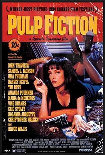 Pulp Fiction - Framed Movie Poster/Print (Regular Style) (Size: 24 inches x 36 inches)
