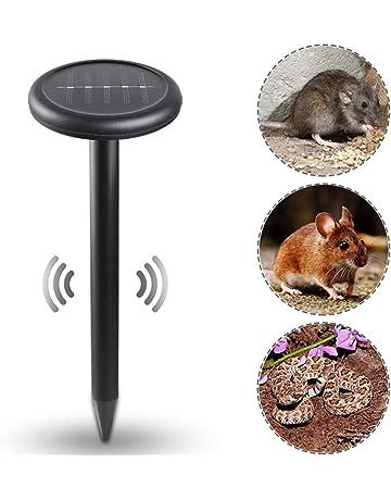 Lixada 5.5V / 80mA Repelente de Rata y Serpientes con Energía Solar Ultrasonidos para Casa
