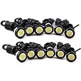 HOTSYSTEM 12V 9W Eagle Eye Lamp Led Light Bulbs For Car Tail Car Motor Backup Light Fog Light White 12-pack