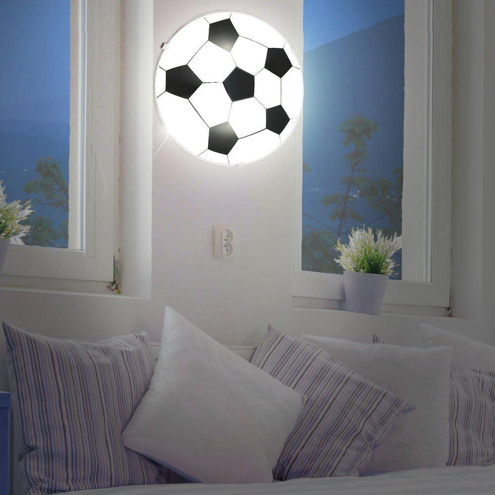 und Wand Lampe Kinder LED Decken und Spielzimmer Leuchte Fu/ßball-Design Soccer Beleuchtung