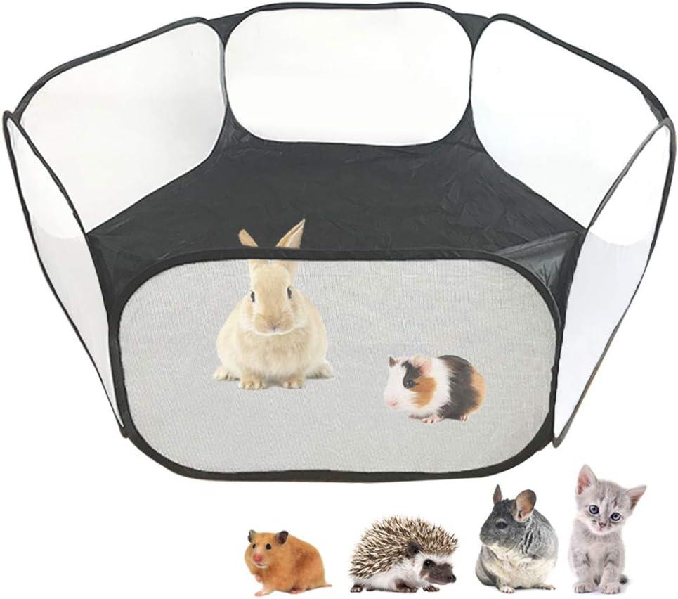 Tienda de jaulas C&C de animales pequeños, corralito para mascotas Pop abierto al aire libre / interior cerca de patio de ejercicios portátil para conejillo de indias, conejos, hámster, chinchilla