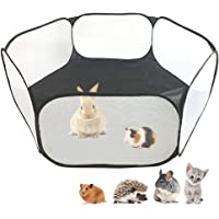 Small Animals C&C Cage Tent, Breathable & Transparent Pet Playpen Pop Open Outdoor/Indoor Exercise Fence, Portable Yard…