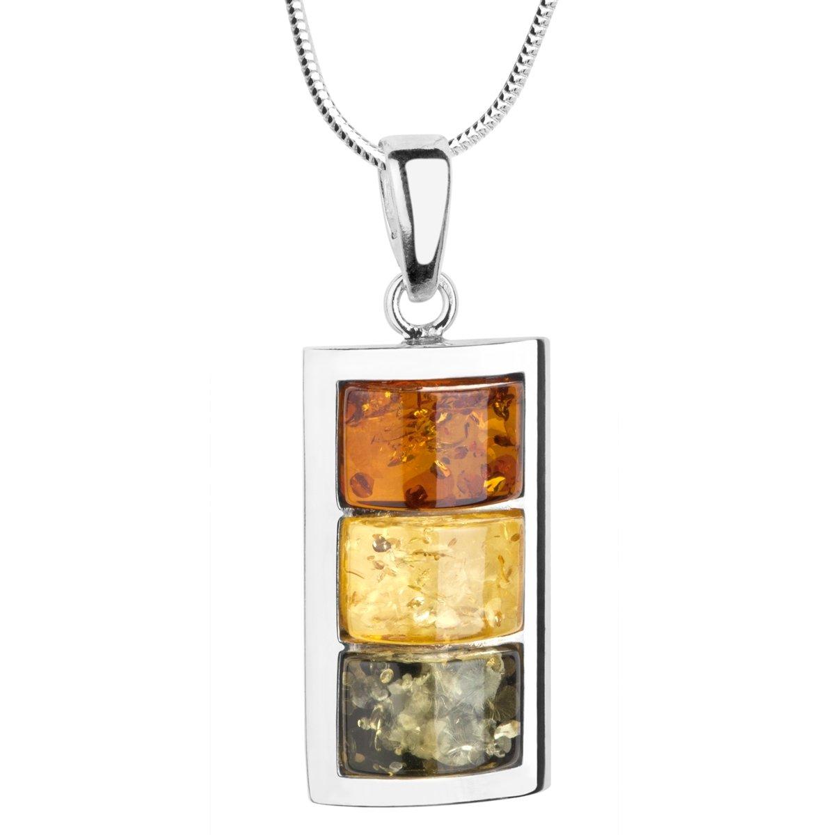 925 Sterling Silber Armband mit mehrfarbigen Halbkugel Bernsteinen für Damen
