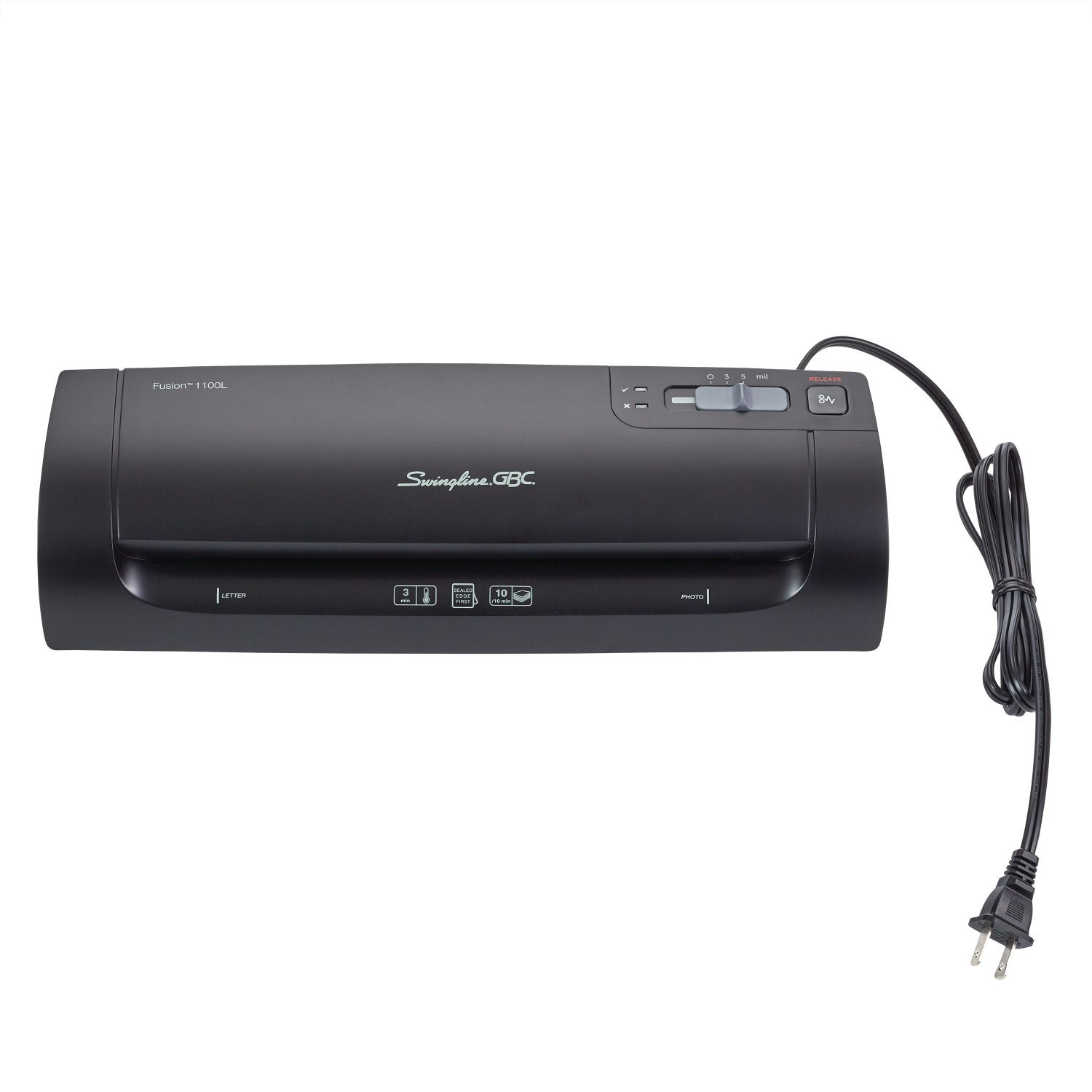 Swingline GBC Thermal Laminator Machine, Fusion 1100L, 9 Inch, 4 Min Warm-up, 3 or 5 Mil, with 10 EZUse Laminating Pouches (1703074)