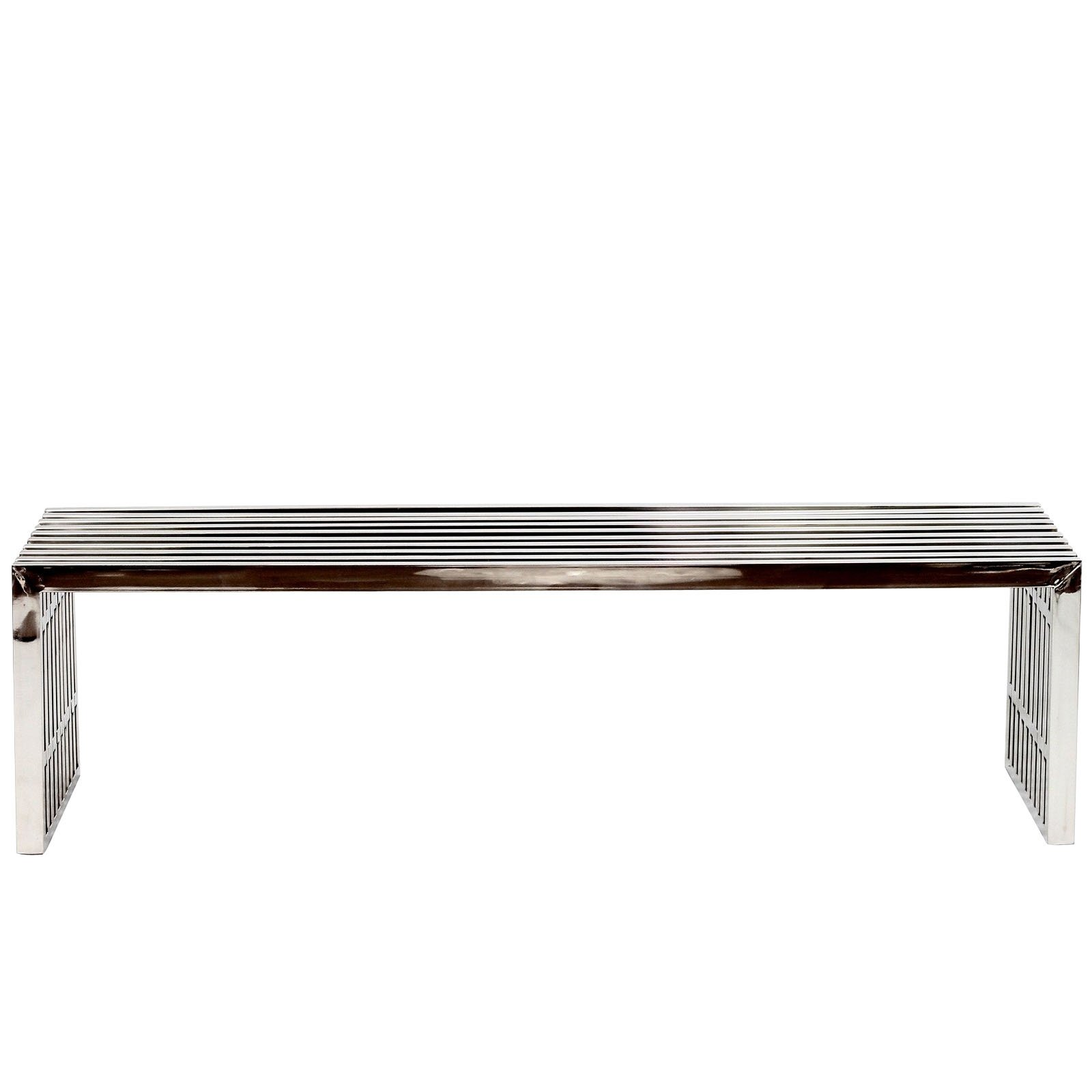 Modway Gridiron Contemporary Modern Large Stainless Steel Bench by Modway (Image #2)