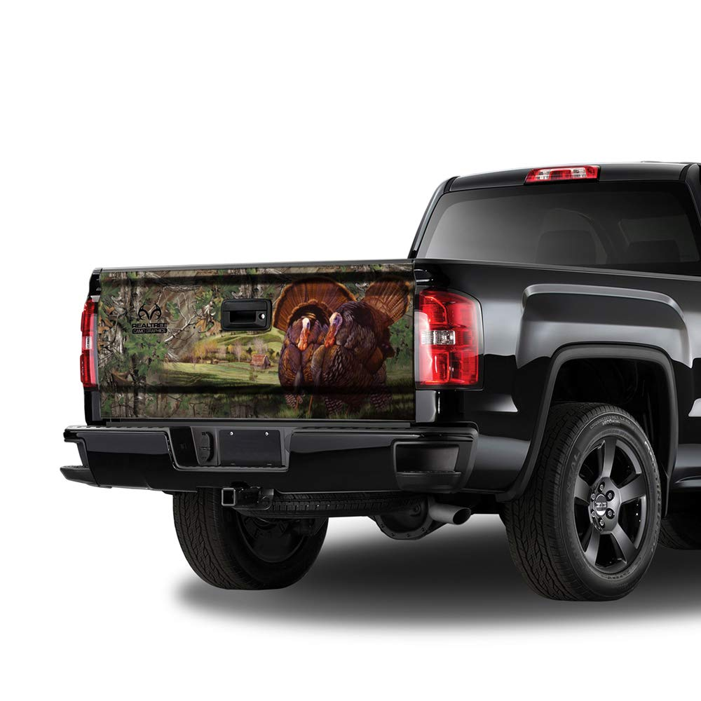 Realtree Camo Graphics RTG5500 26in x 66in-Tailgate Matte Finish Turkey with Realtree Extra Green Camo Graphics Wrap