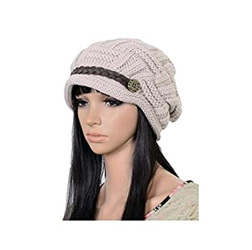 Hosaire Fashion Women Knit Snow Hat Winter Snowboarding Beanie Crochet Cap  Hats (Beign)  Amazon.co.uk  Car   Motorbike c4a4ac7ed620