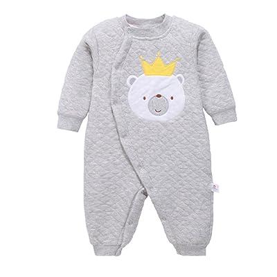 Eagsouni® Toddler bébé Nouveau-né Filles Garçons Jumpsuit Coton Romper Vêtements pour Automne et Hiver