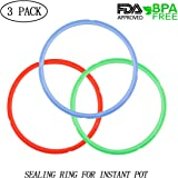 Silicone Sealing Ring for Instant Pot and Pressure Cooker Accessories, 3 Pack Fits 5QT/6QT, Sweet and Savory Edition