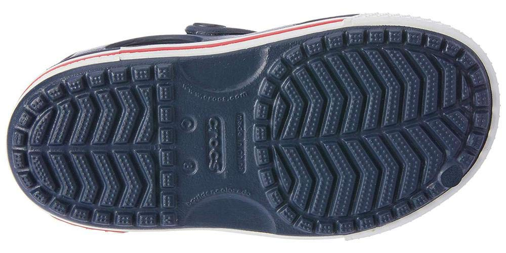 Crocs Kid's Boys and Girls Crocband II Sandal | Pre School, Navy/White, 5 M US Toddler by Crocs (Image #8)