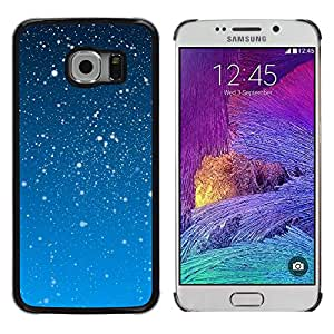 Nevando en el cielo azul - Metal de aluminio y de plástico duro Caja del teléfono - Negro - Samsung Galaxy S6 EDGE (NOT S6)