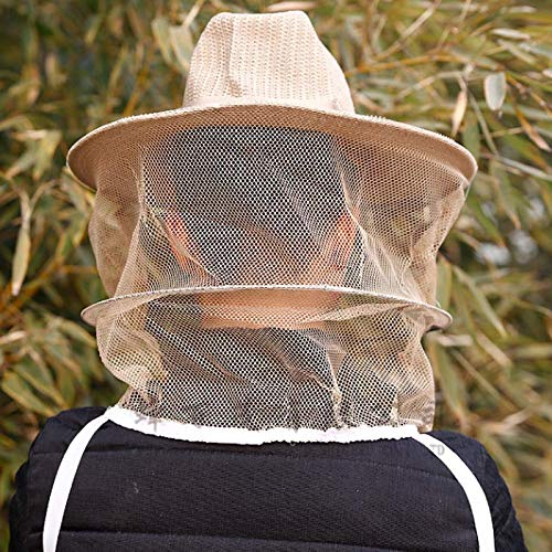 Moskito-Bienen-Insekten-Netz-Kopf-Gesichtsschutzmaske Schutzausr/üstung JklausTap Imkernetz-M/ütze