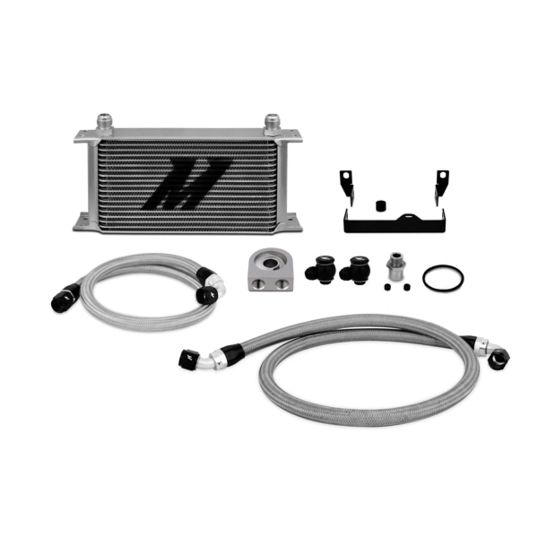 Mishimoto MMOC-WRX-06 Oil Cooler Kit Compatible With Subaru WRX/STI 2001-2007 Silver