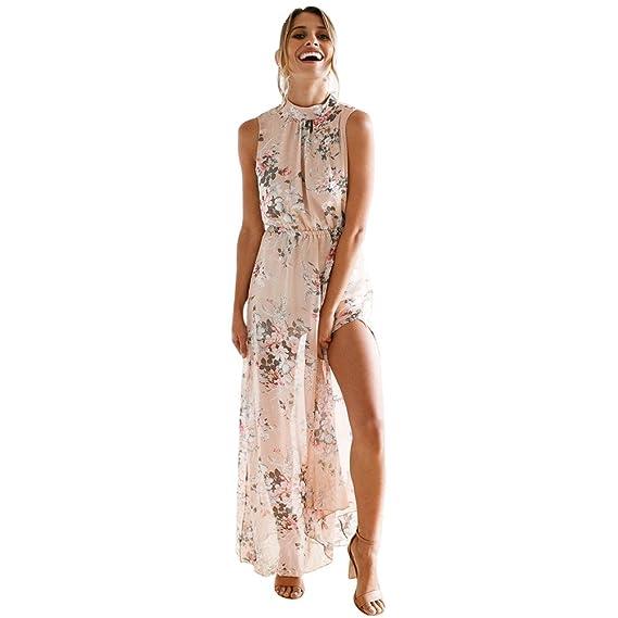 Vestidos Mujer Verano 2018 Vestido Largo Fiesta Mujer Elegante Vestido de  Playa Casual Estampado Floral Vestir 7490c1fb007a