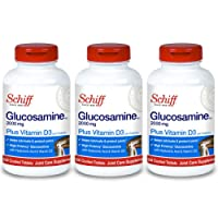 Schiff Glucosamine 2000mg with Vitamin D3 and Hyaluronic Acid Joint Supplement, 150 ct (Pack of 3)