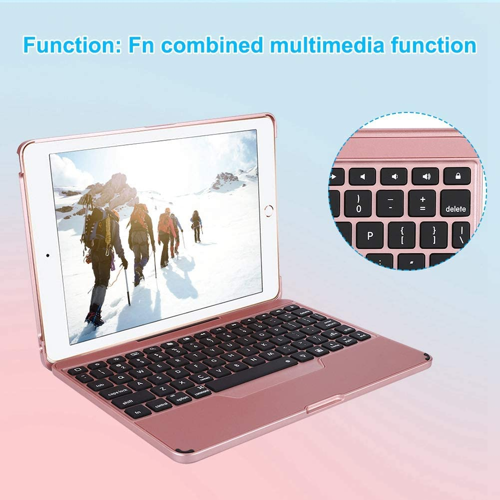 Bracket Black Wireless Bluetooth Keyboard,ASHATA Ultra-Thin Collapsible 9.7-inch Tablet Keyboard Protective Case,Foldable Flip Keyboard for iPad Air // Air2 // Pro 9.7 Inch // 2017//2018