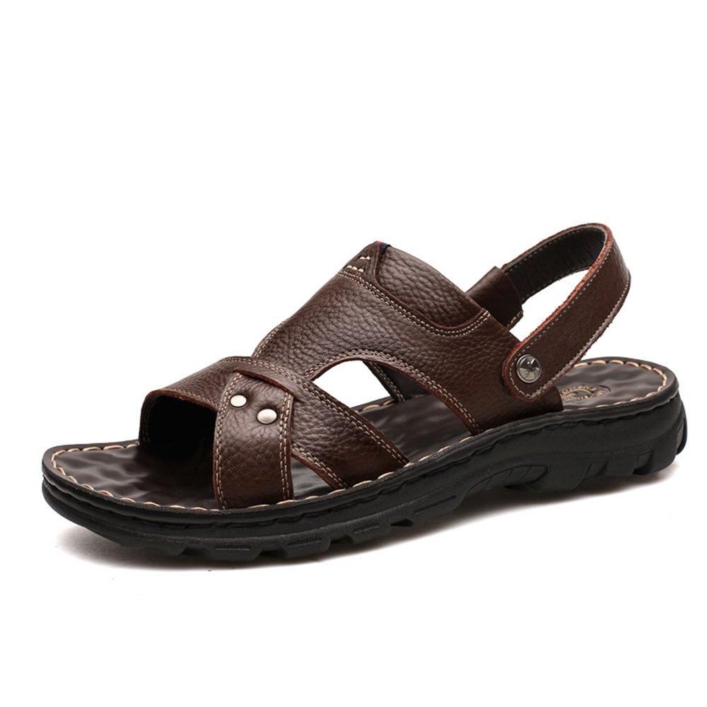 CHUNLAN sunhat Sandalen Männer neue Sommer Strand Schuhe koreanische Soft Bottom Freizeit Massage Slip Slipper ( Farbe : B   größe : EU40/UK7/CN41 ) B