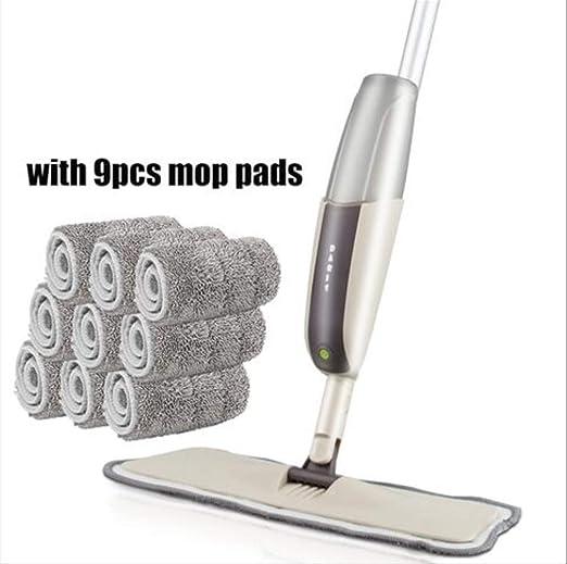 Wbdd Mop Spray Floor Mop with Reusable Microfiber Mat 360 Degree ...