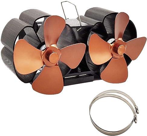 rryilong Ecofan Ventilateur Poêle Chaleur Efficace Murale À