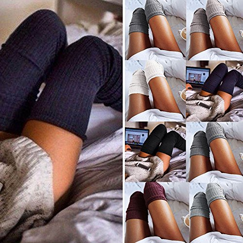 WILLTOO-Women-Knitted-Over-knee-Long-Boot-Thigh-High-Socks-Leggings