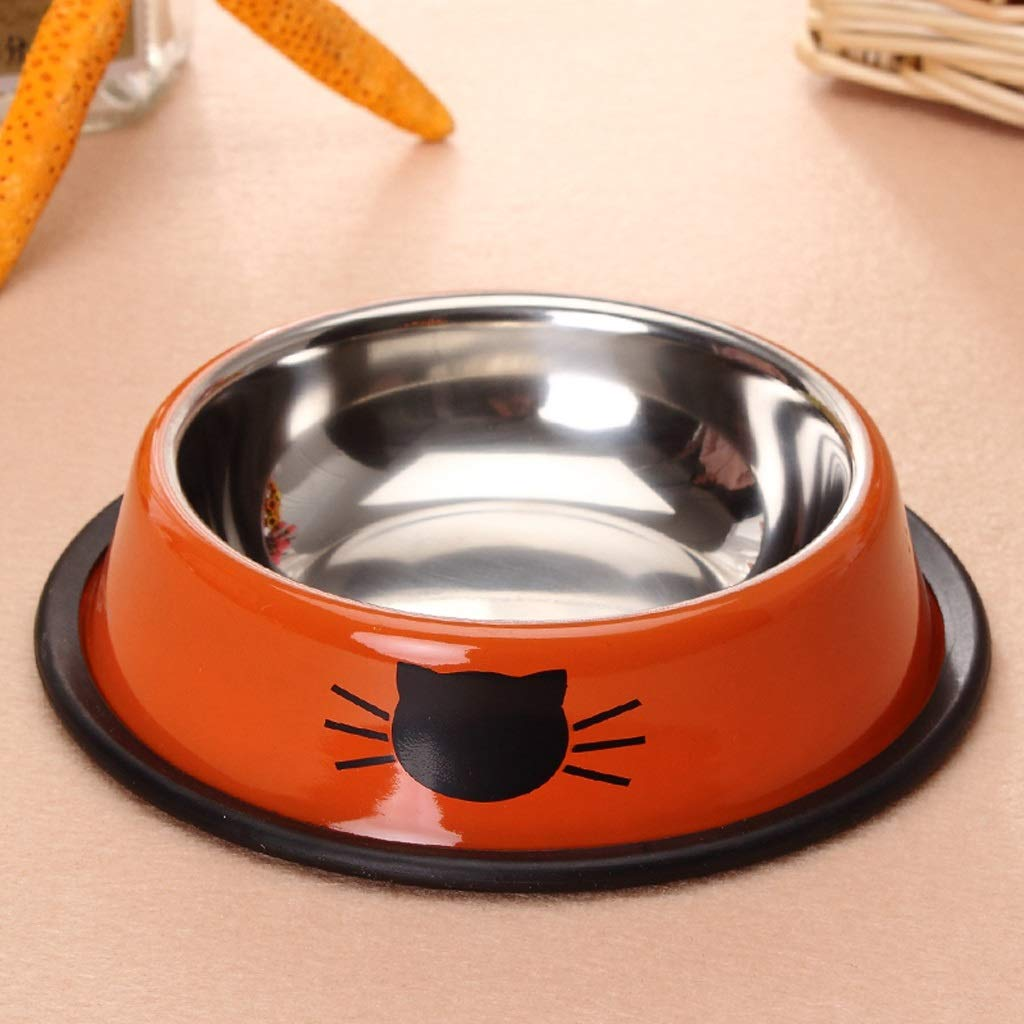 MXD Pet Supplies Stainless Steel Bowl Pet Bowl Thick Anti-Skid Cat Bowl Dog Bowl Pet Food Bowl Single Bowl Rice Bowl