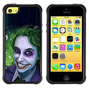 iKiki Tech / Estuche rígido - Zombie Art Blue Eyes Creepy Smile Green - Apple iPhone 5C