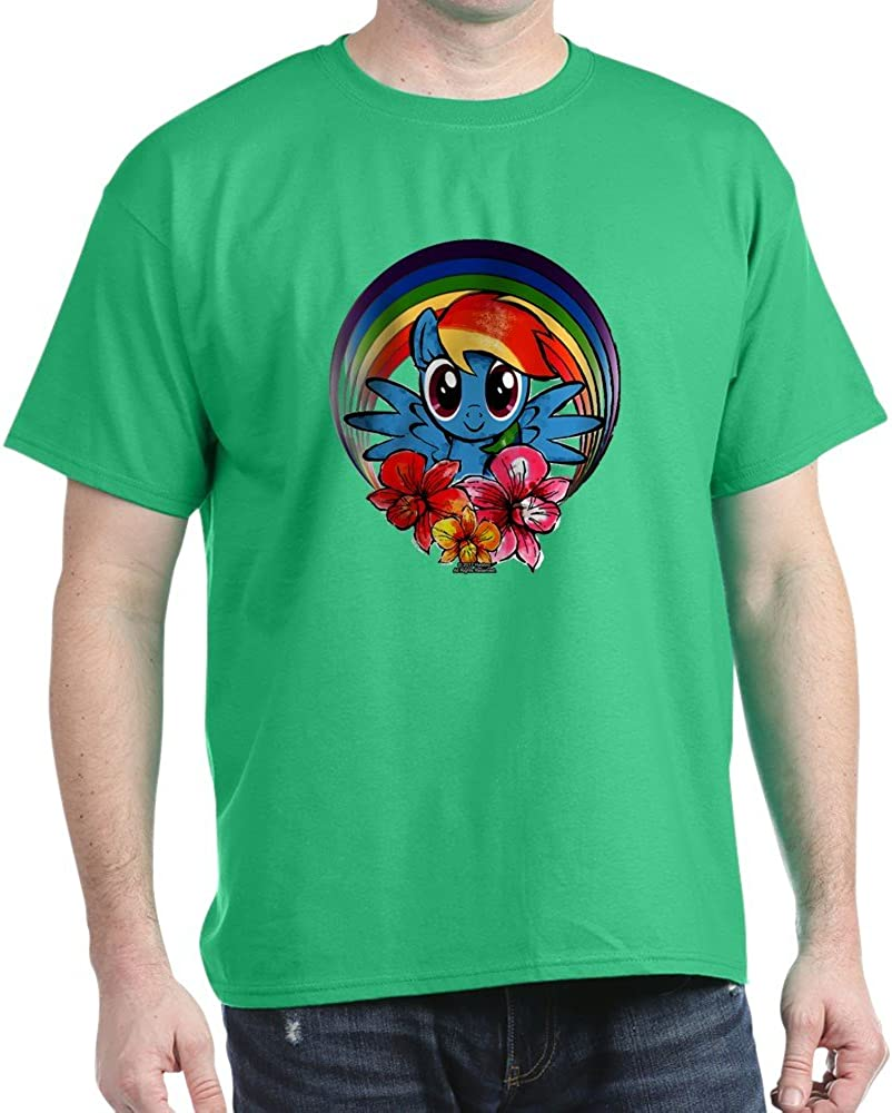 CafePress My Little Pony Rainbow Dash Flowers Cotton T-Shirt