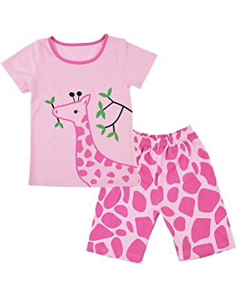Toddler Girls Pyjamas Kids Long Sleeve T Shirt and Shorts Set Children  Clothes Nightwear Winter Pjs for Girl Sleepwear 100% Cotton (1-7 Years)  ... 3c749a2ce