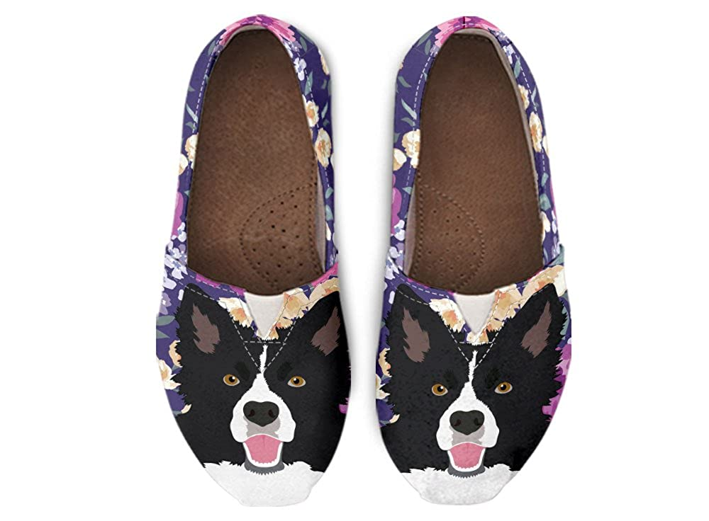 Gnarly Tees Border Collie Dog Portrait Casual Shoes