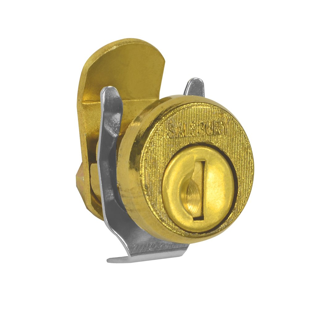 Salsbury Industries 4190 Replacement Lock for Locking Column Mailbox and Modern Mailbox with 2 Keys Gold Finish