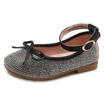 ZARLLE Zapatos Niñas Carnaval Moda Zapato Princesa Niña bowknot danza  Sandalias de Vestido Flat Shoes Bailarinas 1f62a6268381