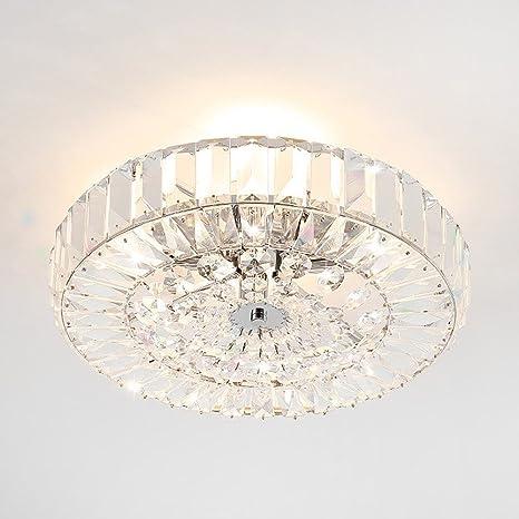 Cristal Lámpara de techo redondo Diseño plafón E14 * 9 ...