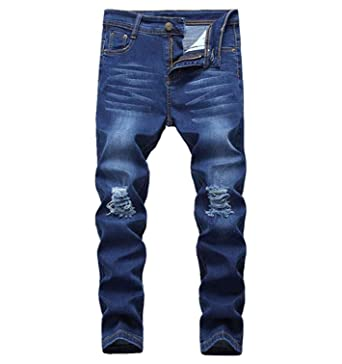 Kids Boys Stretchy Jeans Ripped Denim Skinny Jeans Pants Trousers Age 5-13 Years Clothes, Shoes & Accessories