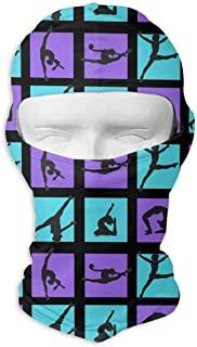 dfegyfr Funny Gymnastics Game Square Balaclava UV Protection Windproof Ski Face Masks for Cycling Outdoor Sports Full Face Mask Breathable