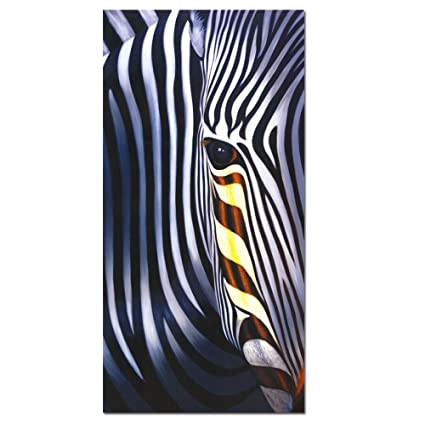Amazon Com Zebra Canvas Wall Art Friendly Zebre Poster Print On
