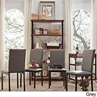 Darcy Metal Upholstered Dining Chair (Set of 4) Grey