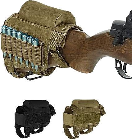 Tactical Gun Buttstock Cheek Rest w// 7 Ammo Pouch Holder for .308 .300 Winmag