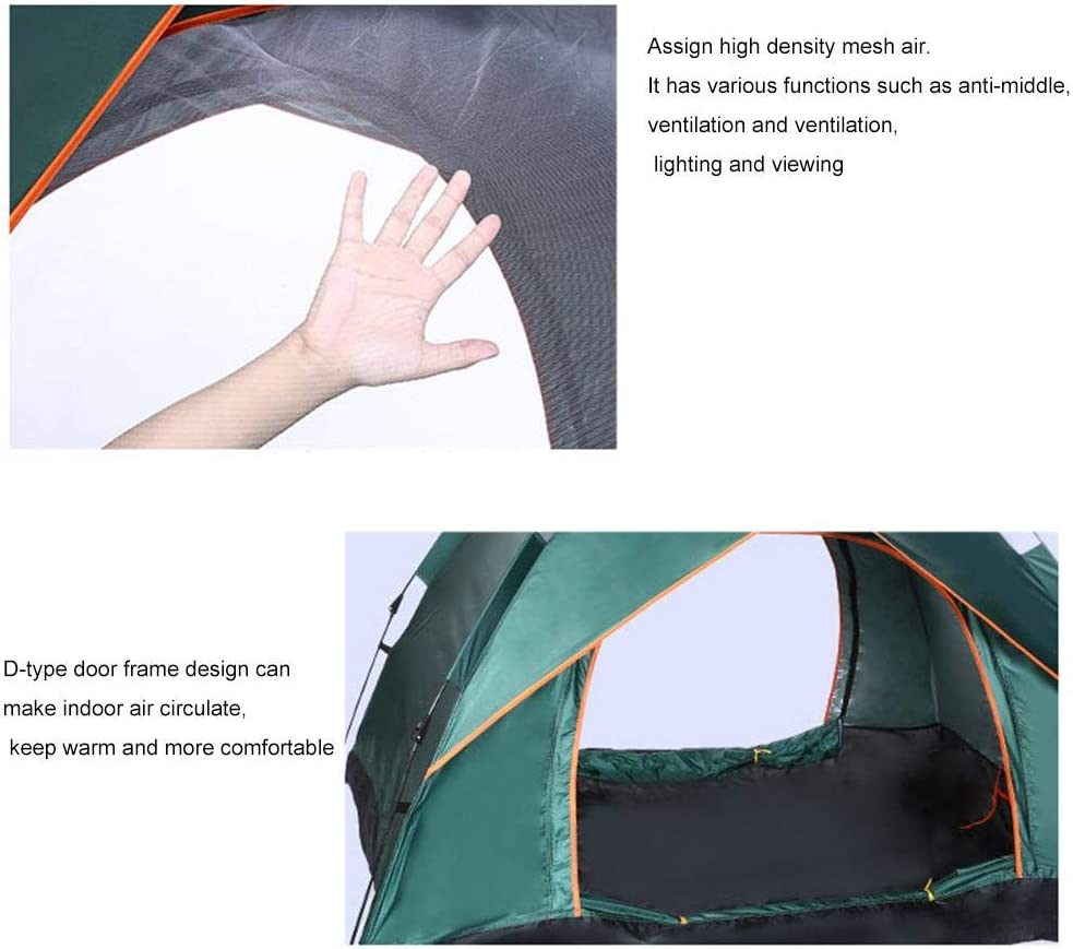 Pop Up Tent for 1-2 Person Camping Tent Easy Setup Tent Automatic Instant Portable Waterproof Double Layer Dome Tent for Hiking Camping Outdoor