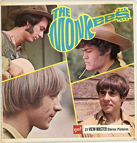 Classic ViewMaster - The Monkees - TV Show in the 1960s - 3Reels Packet - 21 3D Images