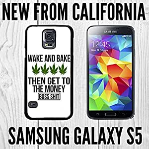 Cute painting Weed Wake and Bake Custom made Case/Cover/skin FOR Samsung Galaxy S5 - Black - PC Case