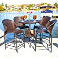 Bennett Wicker Bar Set