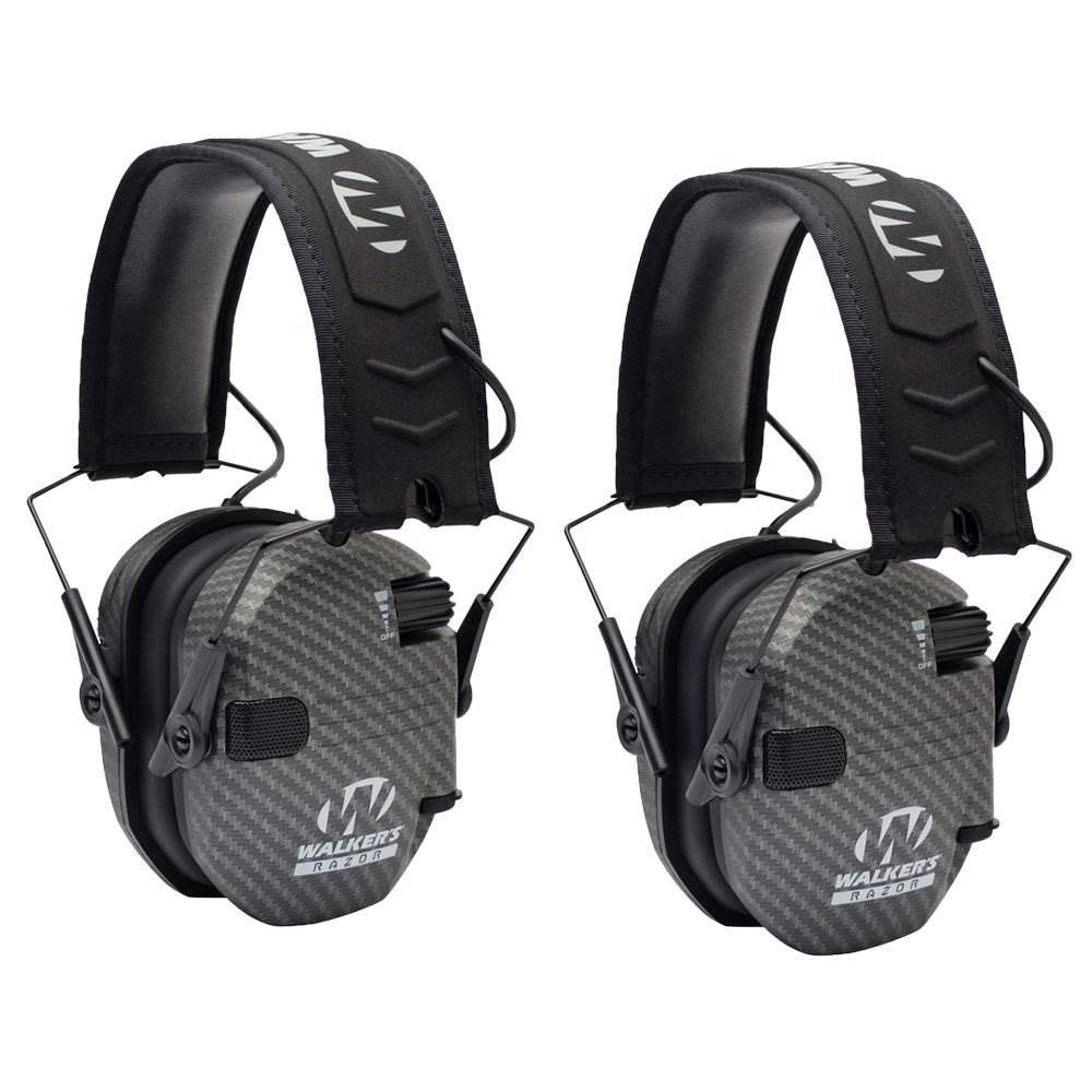 Walkers Razor Series Protection Slim Shooter Folding Earmuff, Carbon by Walker's