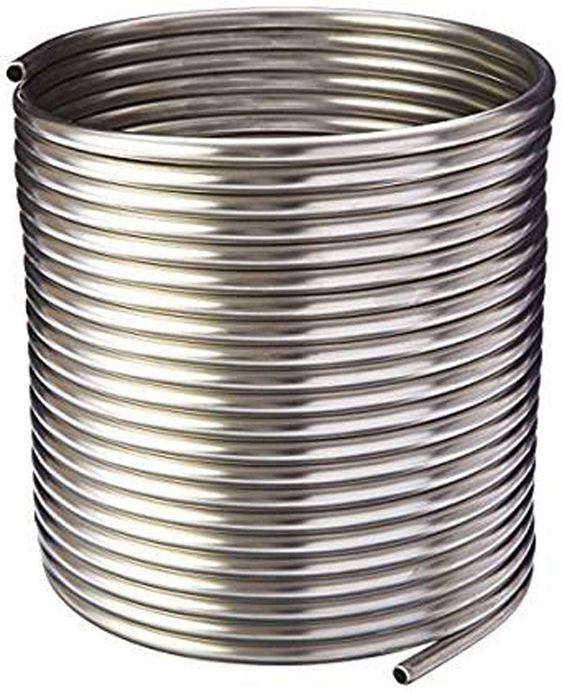 NY Brew Supply Stainless Steel Tubing Coil - 3/8'' x 50' - DIY Chiller, HERMS, Jockey Box by NY Brew Supply