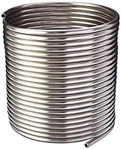 """NY Brew Supply Stainless Steel Tubing Coil - 3/8"""" x 50' - DIY Chiller, HERMS, Jockey Box"""