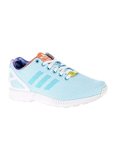 923900467083 Womens Adidas ZX Flux Weave Sneakers Light Aqua-Blue Bright Cyan Running  White Ftw-Black M21371 UK 4.5 EUR 37 1 3 US 6  Amazon.co.uk  Shoes   Bags