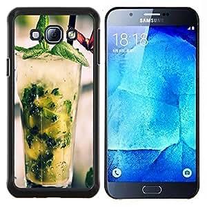 """Be-Star Único Patrón Plástico Duro Fundas Cover Cubre Hard Case Cover Para Samsung Galaxy A8 / SM-A800 ( Fresco cóctel Mojito"""" )"""