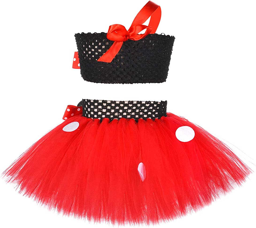 Birthday Minnie Costume for Kids Girls 1st 2nd 3nd 4th Birthday Party Tutu Dress Outfits