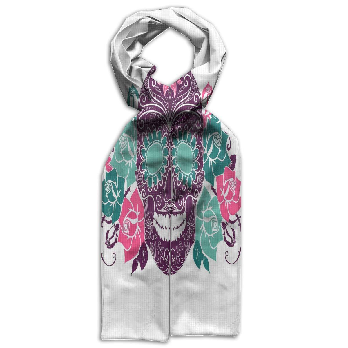 Kids Scarf Flower Skull Neckerchief Winter Warm Gift For Callant